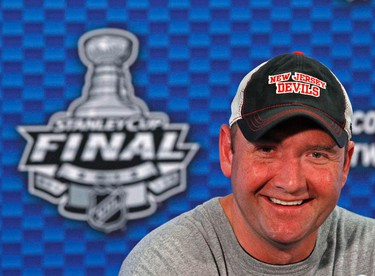 Peter DeBoer, definitely on the radar for Leafs head Coach. A two-time winner of the OHL Coach of the Year award he knows how to coach a young team.  REUTERS/Adam Hunger