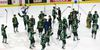 Knights raise their sticks to thank the crowd for their support after losing 5-2 and the series 4-0 to the Erie Otters and ending their season at Budweiser Gardens in London. (Mike Hensen, London Free Press)
