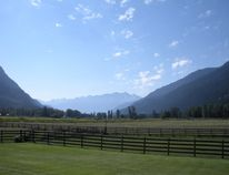 A view of the mountains at Pemberton Meadows Natural Beef farm in Pemberton, B.C. (Nicole Feenstra/Postmedia Network)
