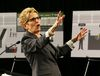 Premier Kathleen Wynne explains the changes from the Premier's Advisory Council on Government Assets on Thursday, April 16, 2015. (MICHAEL PEAKE/Toronto Sun)