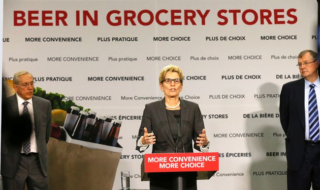 Premier Kathleen Wynne explains the changes from the Premier's Advisory Council on Government Assets on Thursday April 16, 2015. (MICHAEL PEAKE/Toronto Sun)