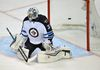 Ondrej Pavelec lets one by against the Ducks in Ahaheim on Thursday. (GARY A. VASQUEZ/USA Today Sports)