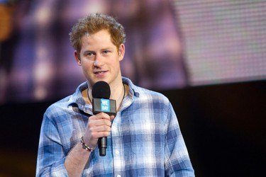 2014 - Prince Harry speaks at the first-ever We Day UK in 2014. (Courtesy: Free The Children)