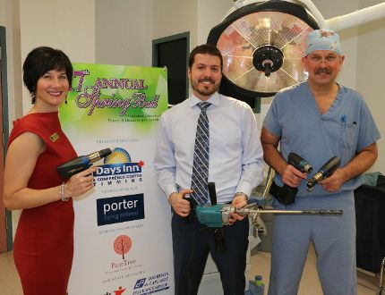 The Timmins and District Hospital Foundation is still working hard to sell seats and lottery tickets for the annual Days Inn Spring Ball and Lottery, which happens May 2. Part of the money raised will be directed to the purchase of new power tools to be used in orthopedic surgery. Those taki