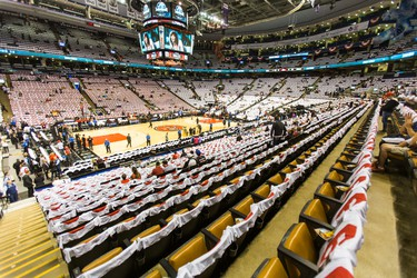Inside the Air Canada Centre before the Toronto Raptors take on the Washington Wizards in Game 1 Playoffs in Toronto, Ont. on Saturday April 18, 2015. Ernest Doroszuk/Toronto Sun/Postmedia Network