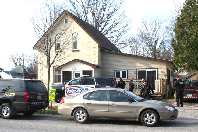 Fourteen people were charged with various drug possession and trafficking, and weapons charges following joint raids April 17 in Bruce, Grey and Huron Counties, including a Market Street house in Port Elgin.