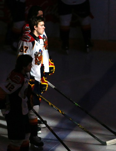 Connor McDavid (97) and the Erie Otters beat the Mississauga Steelheads 4-0 in OHL action at Hershey Centre in Toronto on Monday February 16, 2015. Michael Peake/Toronto Sun/QMI Agency