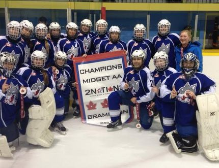 The Sudbury Lady Wolves AA midgets girls hockey team started its pursuit of national gold with a 3-2 win at the opening game of the 2015 Esso Cup in Red Deer, Alta., on Sunday afternoon.
