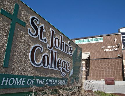 <p>St. John's College on Paris Road remains at the top of Brantford's high schools according to a ranking released by the Fraser Institute. Photographed on Saturday April 18, 2015 in Brantford, Ontario. Brian Thompson/Brantford Expositor/Postmedia Network