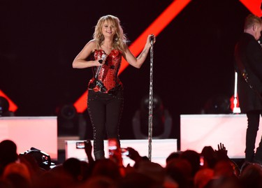 Honoree Miranda Lambert performs onstage during the 50th Academy Of Country Music Awards at AT&T Stadium on April 19, 2015 in Arlington, Texas.   Cooper Neill/Getty Images for dcp/AFP