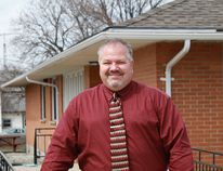 Lambton Elderly Outreach's new CEO, Bill Yurchuck, stands in front of the organization's Wyoming offices. CARL HNATYSHYN/SARNIA THIS WEEK