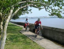 A scenic spot for biking is along the Niagara River near Niagara Falls. (Handout)