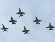 CF-18 Hornet fighter jets depart from 4 Wing Cold Lake, Alta., Oct. 21, 2014, in this Royal Canadian Air Force handout photo provided on Oct. 22, 2014. REUTERS/Cpl Audrey Solomon/Royal Canadian Air Force/Handout