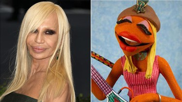 Donatella Versace and Janice share the same sleek blonde hair, amped-up lips and fashion-forward style.  (WENN.COM)