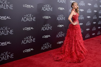 "Blake Lively attends ""The Age of Adaline"" premiere at AMC Loews Lincoln Square 13 theater on April 19, 2015 in New York City.   Jamie McCarthy/Getty Images/AFP"