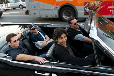 Movie star Vincent Chase, together with his boys Eric, Turtle, and Johnny, are back June 3. Courtesy of Warner Bros.