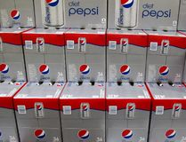 Cases of Diet Pepsi are displayed for sale in Carlsbad, California February 7, 2012. (REUTERS/Mike Blake)