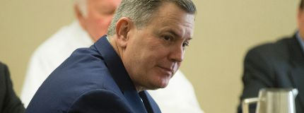 MLSE president Tim Leiweke updates the Exhibition Place Board on the status of the Argos moving into BMO Field.(CRAIG ROBERTSON/Toronto Sun)