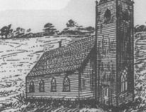 The little log church of 1853 was located where the present Anglican Cemetery is now on the way to Southport. (Les Green/Submitted photo)