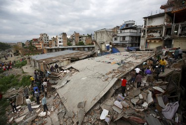 A selection of photos from the devastating 7.9 magnitude earthquake that struck Nepal and parts of northern India.