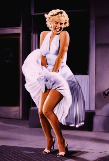 1. Subway dress worn by Marilyn Monroe in The Seven Year itch (1955)Sold for $4.6M at auction