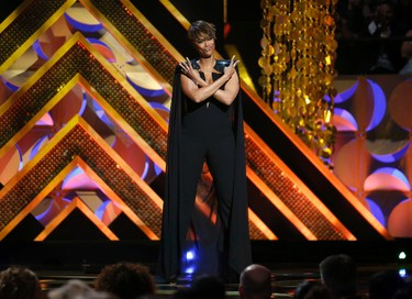 Show host Tyra Banks speaks on stage at the 42nd Annual Daytime Emmy Awards in Burbank, California April 26, 2015.  REUTERS/Danny Moloshok