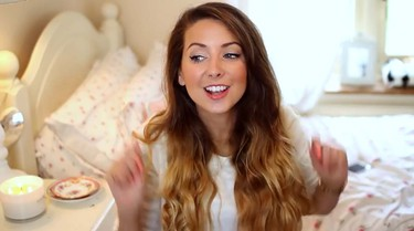 4. Zoe Sugg (Zoella) Joined: Feb. 2, 2007 Subscribers: More than 8 million Zoe Sugg mainly posts videos on beauty, fashion, vlogs and collaborative works. In addition to her YouTube channel, Sugg was named a National Citizen Service's ambassador to the U.K. in 2013 and released a novel (Girl Online) in 2014 which broke the first-week sales record for a first-time novelist. She was also featured in the Band Aid 30 version of Do They Know It's Christmas? (YouTube screenshot)