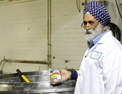 Amarjit Singh, owner of Local Dairy Products, shows off his speciality Oaxaca cheese. The cheese recently won the mozzarella category at the Canadian Cheese Grand Prix. (Megan Stacey/Sentinel-Review)