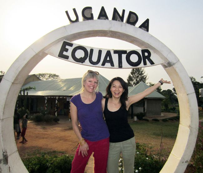 Madeleine Shaw, left, and Suzanne Siemens, co-founders of Lunapads, on their first trip to Uganda where they helped foster AFRIpads by providing them with their patterns and business mentorship. (Photo submitted)