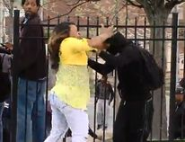 "A suspected Baltimore rioter is disciplined by his mother in this video screengrab. (<a href=""https://www.youtube.com/watch?v=VRlmCf1Kj2o"" target=""blank"">ABC 2 News - WMAR/YouTube</a>)"