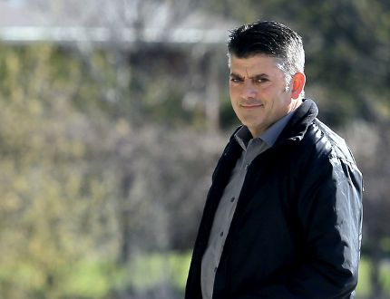Anthony McPhail, 48, of Kitchener, arrives at Superior Court in Chatham, Ont. on Tuesday April 28, 2015 for sentencing. In 2012, McPhail was charged with 120 counts following a lengthy Canada Revenue Agency (CRA) investigation into an alleged income tax evasion scheme totalling nearly $4 million in bogus business expenses. (Diana Martin/Chatham Daily News/Postmedia Network)