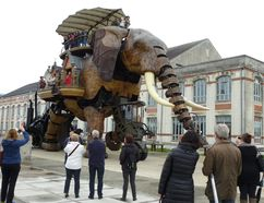 Part of a project called Les Machines de Ile, this giant mechanical elephant takes visitors for a slow spin around a former industrial island in Nantes. ROBIN ROBINSON/TORONTO SUN