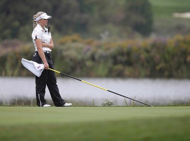 Canadian Brooke Henderson during the front nine of the final round of the World Junior golf Championship at Angus Glen golf course on Wednesday October 1, 2014. Craig Robertson/Toronto Sun