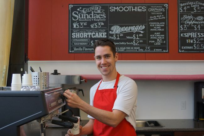 Will Heeman serves up a hot beverage from the Berry Beanery, the latest addition to the family-owned business. Heeman's is having an open house on Saturday, May 2.