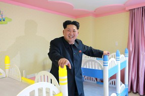 North Korean leader Kim Jong Un provides field guidance to Wonsan Baby Home and Orphanage, which is close to completion, in this photo released by North Korea's Korean Central News Agency (KCNA) on April 22, 2015. (REUTERS/KCNA)