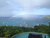 We were in Bequia last November, trip of a lifetime! You can see the rain showers in the bay with a rainbow. By Dan Howard. Theme: Rain (April 2, 2015)