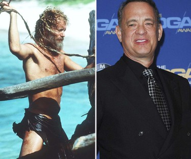 Tom Hanks, Cast AwayWhen you're Tom Hanks, you have the luxury of choosing roles that don't require you to drop massive amounts of weight. Nonetheless, Hanks eagerly signed on to play marooned FedEx employee Chuck Noland in Robert Zemeckis' 2000 adventure, which required him to shoot his scenes for the first part of the movie and then take a year-long break to lose 55 pounds and grow a long, straggly beard, before coming back to film the scenes set four years later. (Handout/WENN)