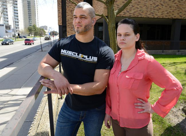 Fanshawe College students Michael Jefferson, 33, and Kristen Williams, 23, say the college failed to meet needs of deaf students. (MORRIS LAMONT, The London Free Press)