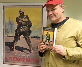 In 2014 Tillsonburg's Robin Barker-James published his first book, The Last Trench Fighter, which he planned to use for a five-part, five-year play that opened in September 2014. The remaining four parts were scheduled to run annually until 2018. The Last Trench Fighter is available for sale at the Tillsonburg Station Arts Centre and Annandale National Historic Site or online at www.volumesdirect.com. (CHRIS ABBOTT/TILLSONBURG NEWS/FILE PHOTO)