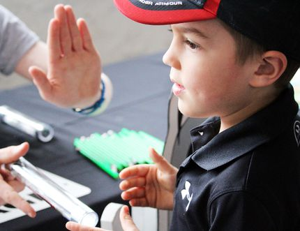 Six-year old Damian Torresan explores how electricity works during the Science Carnival at The Machine Shop in Mill Square Saturday afternoon, part of the first-ever Sault Ste. Marie Science Festival. The inaugural five day event is the only festival of its kind in the area.