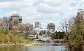 A view of the Forks of the Thames as seen from Wharncliffe Road.  (CRAIG GLOVER, The London Free Press)