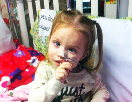 Three-year-old Kaylee Atchison-Heaps has a rare gene mutation. One that makes its extremely difficult for the Warren girl's body to cope with and calm down from physical stress. (Submitted photo)