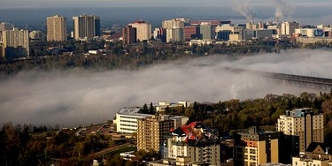 Spectacularly impressive fog covers most of the High Level Bridge as it rolled through Edmonton's river valley as the sun rose on Friday on May 8, 2015. Lincoln Ho/Edmonton Sun Reader Photo
