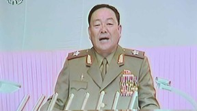 This screen grab taken from North Korean TV on July 18, 2012, Hyon Yong-Chol, chief of the General Staff of the Korean People's Army.  AFP PHOTO/HO/ NORTH KOREAN TV