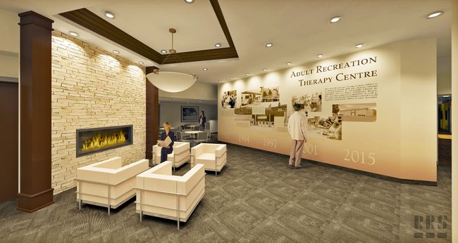 A graphic rendering of the lobby of the new Brantford Adult Recreation Therapy Centre. (Submitted)