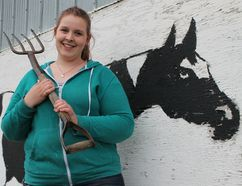 Farmers Challenge event organizer Jenien Riedstra, show here in front of the barns on the Carman fairgrounds, said she wanted to bring a sharper focus on agriculture to the annual Carman Country Fair this year. (EMILY DISTEFANO/CARMAN VALLEY LEADER)