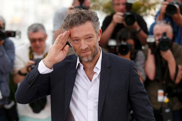 """Cast member Vincent Cassel gestures as he poses during a photocall for the film """"Tale of Tales"""" in competition at the 68th Cannes Film Festival in Cannes, southern France, May 14, 2015.  REUTERS/Benoit Tessier"""