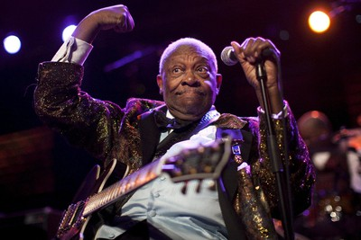 U.S. blues legend B.B. King performs onstage during the 45th Montreux Jazz Festival in Montreux, in this file picture taken July 2, 2011. REUTERS/Valentin Flauraud
