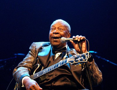 B.B. KING performing in concert at the Ahoy Stadium part of his 2005 European Farewell Tour. (WENN.COM file photo)