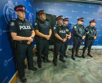 Toronto Police Service announces the body-worn cameras pilot project at police headquarters in Toronto, Ont.  on Friday May 15, 2015. Ernest Doroszuk/Toronto Sun